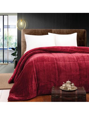 Κουβερτοπάπλωμα υπέρδιπλο Art 1792  220x240  Κόκκινο