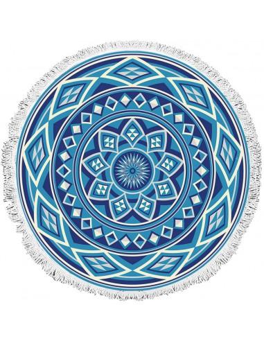 Πετσέτα θαλάσσης Art 2034  Φ160  Μπλε