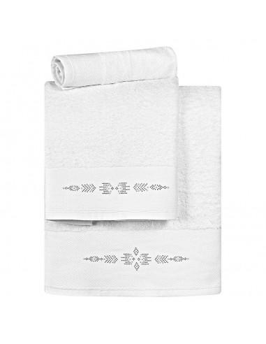 Σετ πετσέτες Art 3168  Σετ 3τμχ  Λευκό