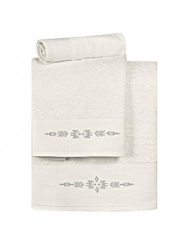 Σετ πετσέτες Art 3173  Σετ 3τμχ  Εκρού