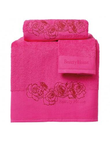 Σετ πετσέτες Art 3256  Σετ 3τμχ  Φουξ