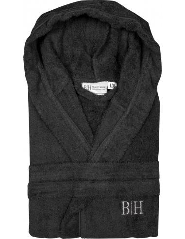 Μπουρνούζι με κουκούλα Art 3274  Μαύρο