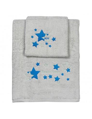 Σετ πετσέτες Art 5147  Σετ 2τμχ  Γκρι