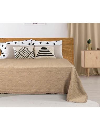 Κουβέρτα ζακάρ Art 1349 με δαντέλα μονή σε 5 χρώματα  170x250