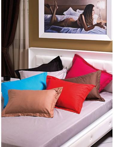 Πάπλωμα υπέρδιπλο μονόχρωμο 100% Βαμβακοσατέν σε 9 αποχρώσεις Art 1380  220x240  Μωβ Beauty Home