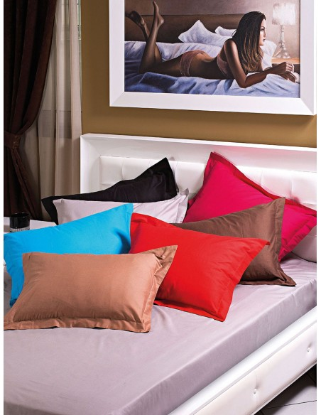 Κουβερλί μονό μονόχρωμο 100% Βαμβακοσατέν σε 9 αποχρώσεις Art 1380  170x240  Μωβ Beauty Home