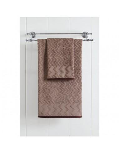 Πετσέτα μπάνιου Art 3237  70x140  Καφέ